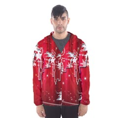 City Nicholas Reindeer View Hooded Wind Breaker (Men)