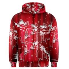 City Nicholas Reindeer View Men s Zipper Hoodie