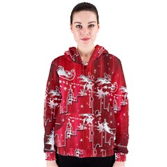 City Nicholas Reindeer View Women s Zipper Hoodie