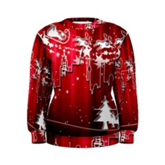 City Nicholas Reindeer View Women s Sweatshirt