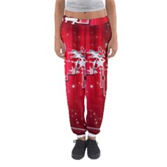 City Nicholas Reindeer View Women s Jogger Sweatpants