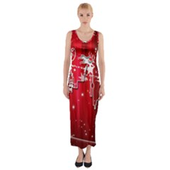 City Nicholas Reindeer View Fitted Maxi Dress