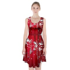 City Nicholas Reindeer View Racerback Midi Dress