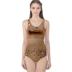 Circuit Board Pattern One Piece Swimsuit