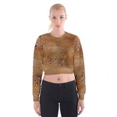 Circuit Board Pattern Women s Cropped Sweatshirt