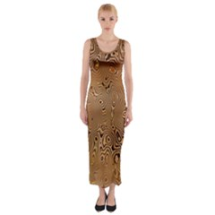 Circuit Board Pattern Fitted Maxi Dress