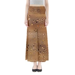 Circuit Board Pattern Maxi Skirts