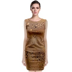 Circuit Board Pattern Classic Sleeveless Midi Dress