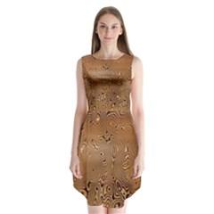 Circuit Board Pattern Sleeveless Chiffon Dress