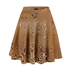 Circuit Board Pattern High Waist Skirt