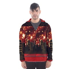 City Silhouette Christmas Star Hooded Wind Breaker (Men)