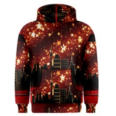 City Silhouette Christmas Star Men s Pullover Hoodie