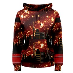 City Silhouette Christmas Star Women s Pullover Hoodie