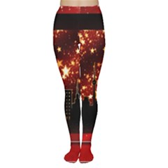 City Silhouette Christmas Star Women s Tights