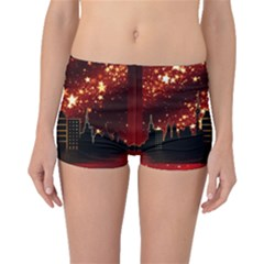 City Silhouette Christmas Star Boyleg Bikini Bottoms