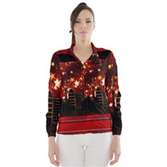 City Silhouette Christmas Star Wind Breaker (women)