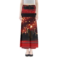 City Silhouette Christmas Star Maxi Skirts