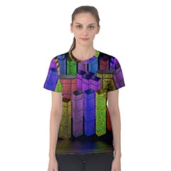 City Metropolis Sea Of Light Women s Cotton Tee