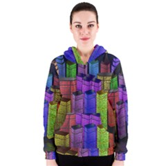 City Metropolis Sea Of Light Women s Zipper Hoodie