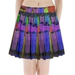 City Metropolis Sea Of Light Pleated Mini Skirt