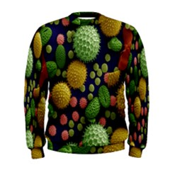 Colorized Pollen Macro View Men s Sweatshirt