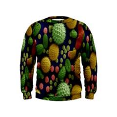 Colorized Pollen Macro View Kids  Sweatshirt