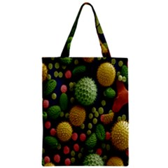 Colorized Pollen Macro View Zipper Classic Tote Bag