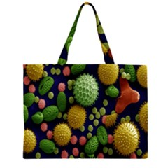 Colorized Pollen Macro View Large Tote Bag