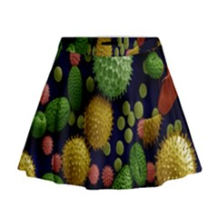 Colorized Pollen Macro View Mini Flare Skirt