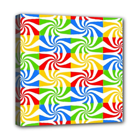 Colorful Abstract Creative Mini Canvas 8  x 8