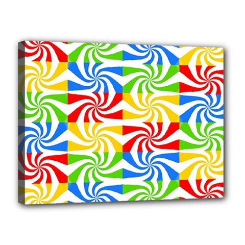 Colorful Abstract Creative Canvas 16  x 12