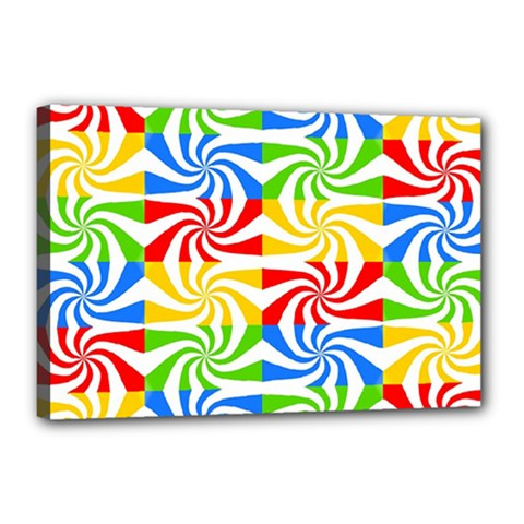 Colorful Abstract Creative Canvas 18  x 12
