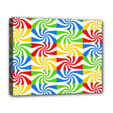 Colorful Abstract Creative Deluxe Canvas 20  x 16