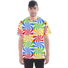 Colorful Abstract Creative Men s Sport Mesh Tee