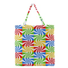 Colorful Abstract Creative Grocery Tote Bag