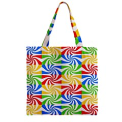 Colorful Abstract Creative Zipper Grocery Tote Bag