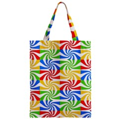 Colorful Abstract Creative Zipper Classic Tote Bag