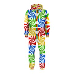 Colorful Abstract Creative Hooded Jumpsuit (kids)