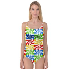 Colorful Abstract Creative Camisole Leotard