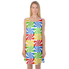 Colorful Abstract Creative Sleeveless Satin Nightdress