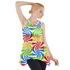 Colorful Abstract Creative Side Drop Tank Tunic