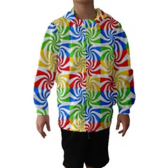 Colorful Abstract Creative Hooded Wind Breaker (Kids)