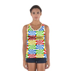 Colorful Abstract Creative Women s Sport Tank Top