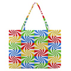 Colorful Abstract Creative Medium Zipper Tote Bag