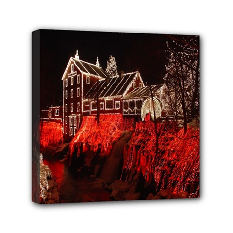 Clifton Mill Christmas Lights Mini Canvas 6  x 6