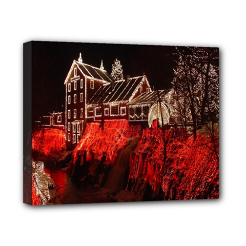 Clifton Mill Christmas Lights Canvas 10  x 8