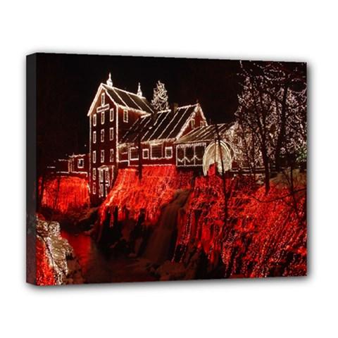Clifton Mill Christmas Lights Canvas 14  x 11