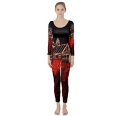 Clifton Mill Christmas Lights Long Sleeve Catsuit