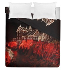 Clifton Mill Christmas Lights Duvet Cover Double Side (queen Size)