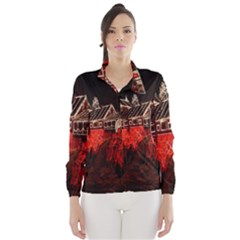 Clifton Mill Christmas Lights Wind Breaker (women)